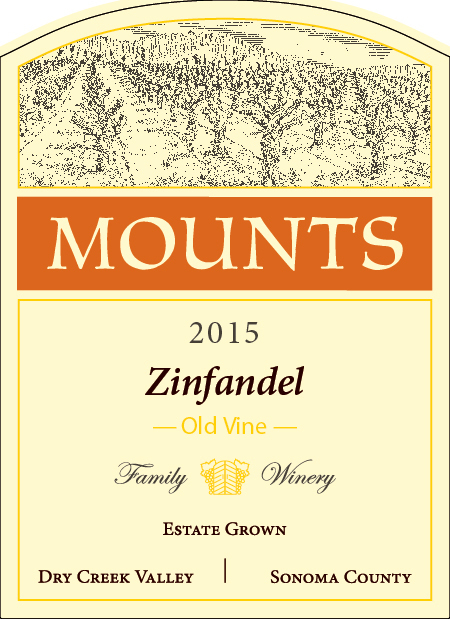 2015 Mounts 'Old Vine' Zinfandel, Estate Grown Product Image