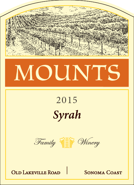 2015 Mounts Syrah, Old Lakeville Rd Product Image