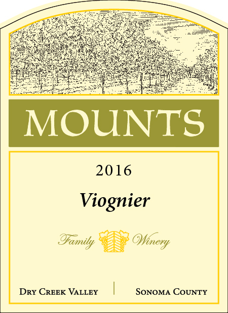 2016 Mounts Viognier, Estate Grown Product Image