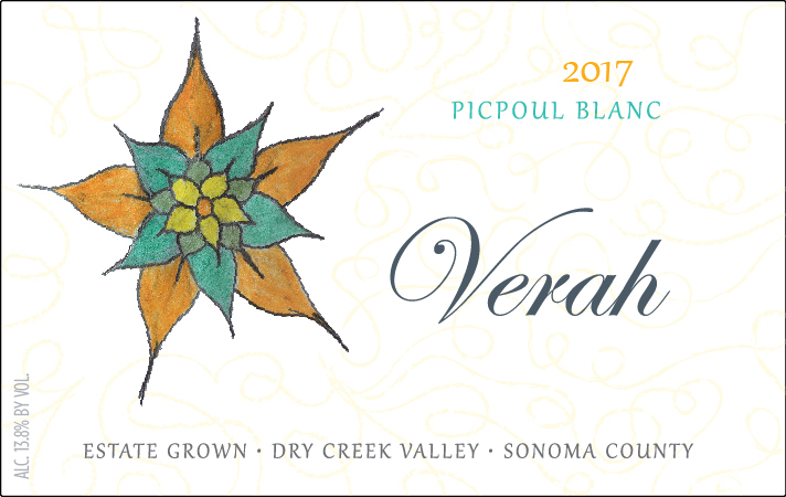 2017 Verah Picpoul Blanc, Estate Grown Product Image